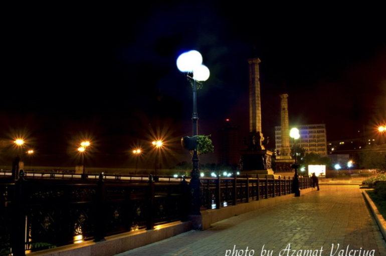 Кальмиус ночью и днем