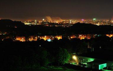 Донецк из Гвардейки. Ночь