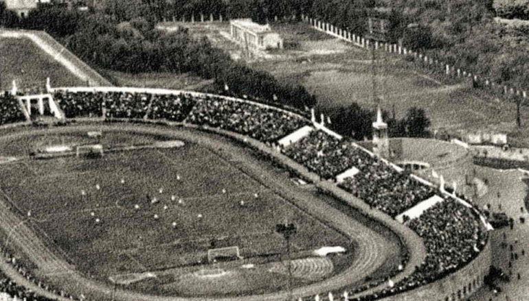Панорама со стадионом