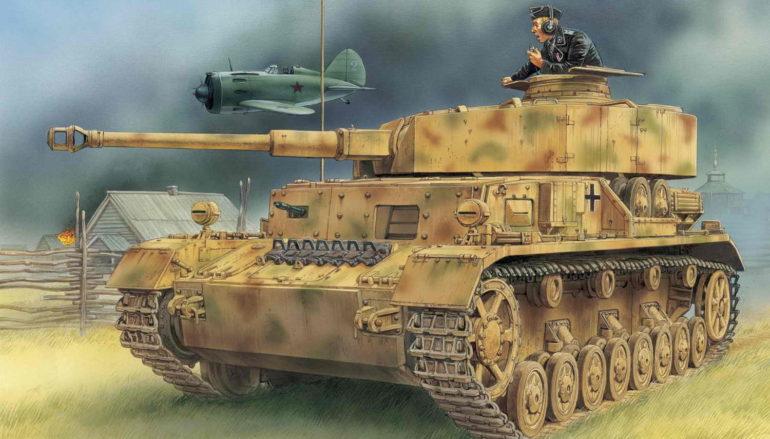 Немецкие танки в Сталино