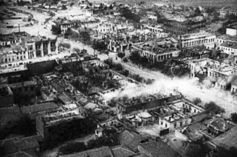 Сталино 1943. Город с самолета