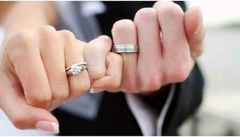 Первые минуты Дворца бракосочетаний