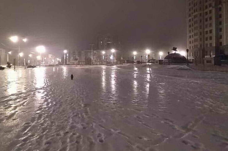 Под тонким слоем льда